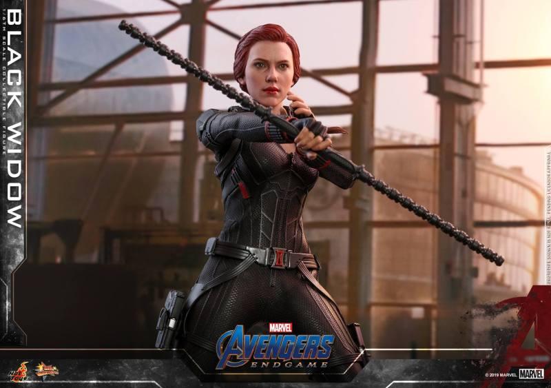 hot toys avengers endgame black widow figure - sticks combined