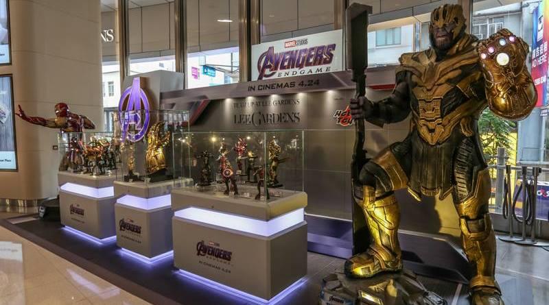 hot toys avengers endgame exhibit wide shot