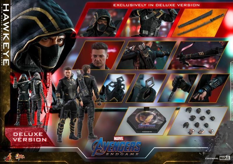 hot toys avengers endgame hawkeye -collage