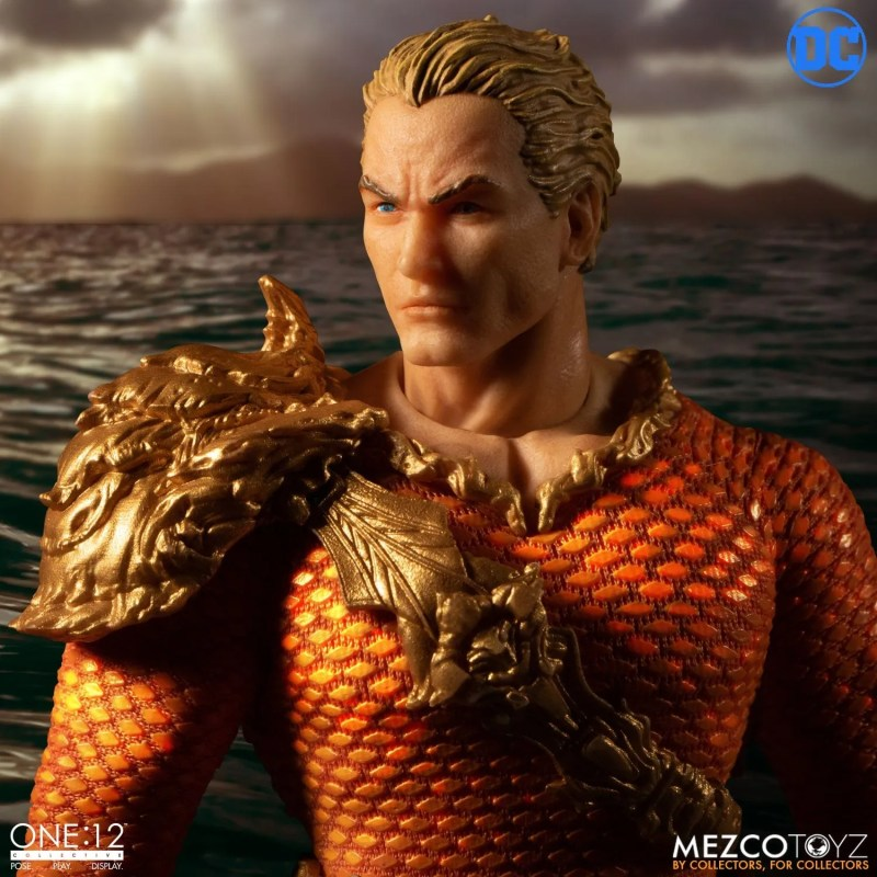 mezco: one 12 aquaman figure -with shell armor