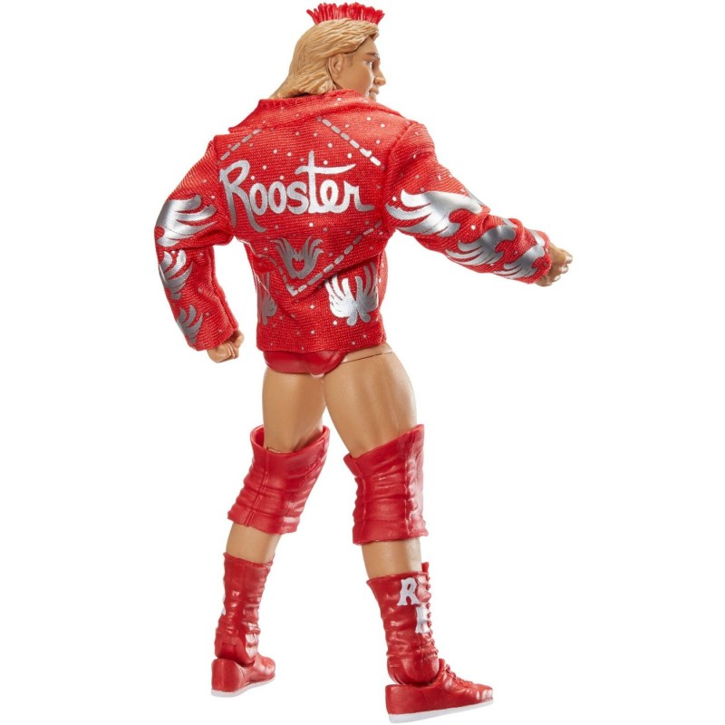 wwe elite red rooster figure rear with jacket on
