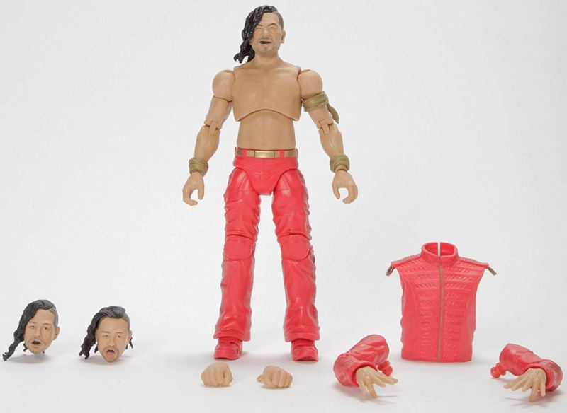 wwe ultimate edition shinsuke nakamura figure - accessories