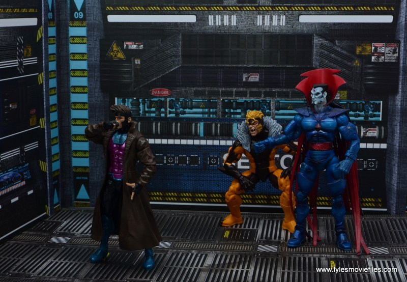Marvel Legends Gambit figure review - with sabretooth and mister sinister