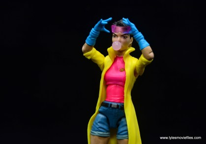 Marvel Legends Jubilee figure review - putting on goggles