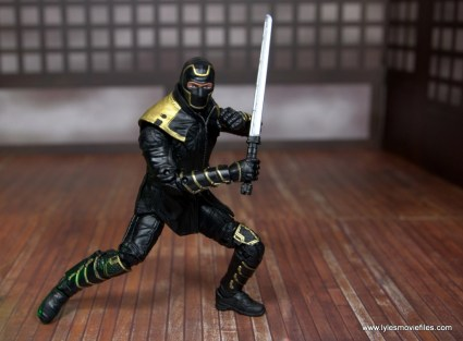 Marvel Legends Ronin figure review - battle stance