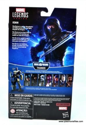 Marvel Legends Ronin figure review - package rear