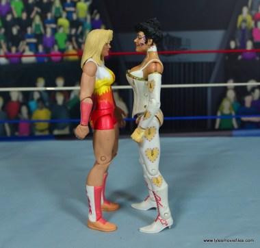 WWE Alundra Blayze figure review -scale with sherri