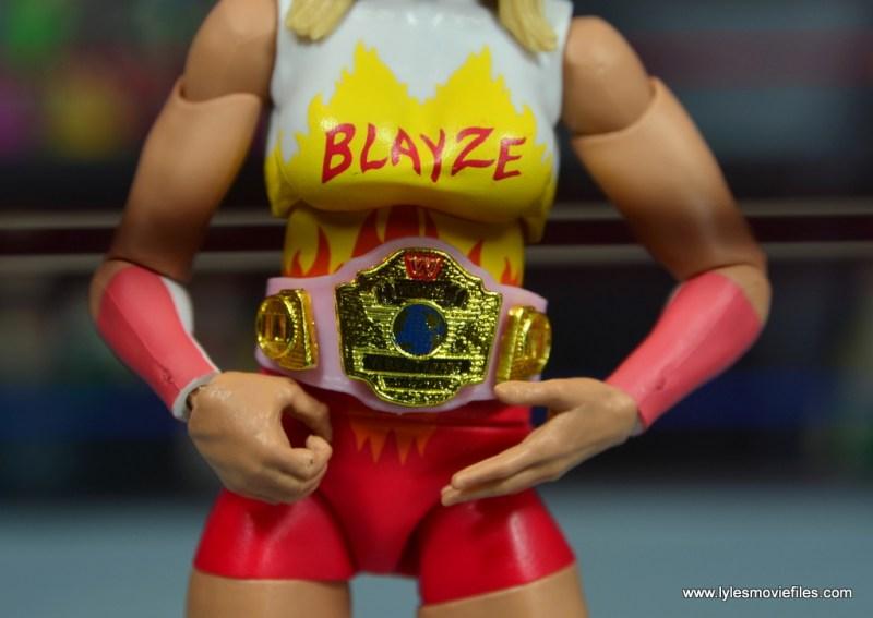 WWE Alundra Blayze figure review - wwf women's belt detail