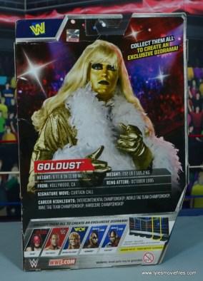 WWE Goldust figure review - package rear