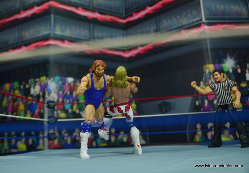 WWE Retrofest Hacksaw Jim Duggan figure review - clotheslining hbk