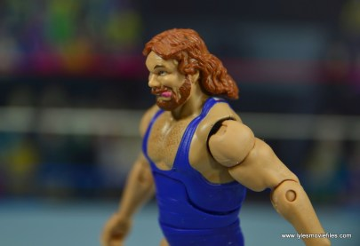 WWE Retrofest Hacksaw Jim Duggan figure review - left side close up