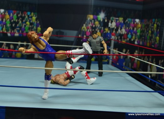WWE Retrofest Hacksaw Jim Duggan figure review - stomping