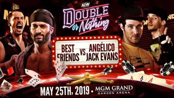 aew double or nothing - best friends vs angelico and jack evans