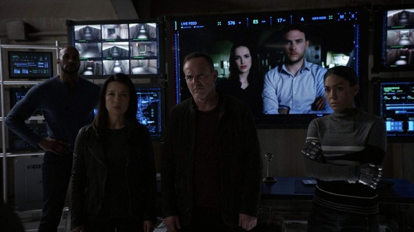 agents of shield option two review - may, coulson, simmons, fitz and elenar