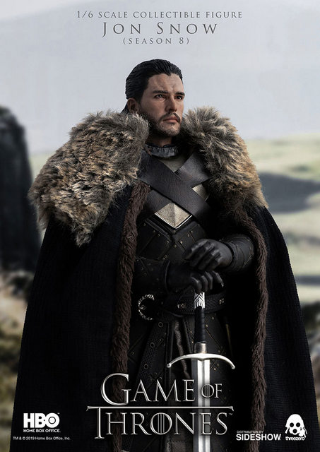 game of thrones jon snow season 8 figure - with cloak and sword