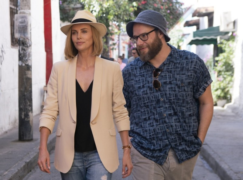 long shot review - charlize theron and seth rogen