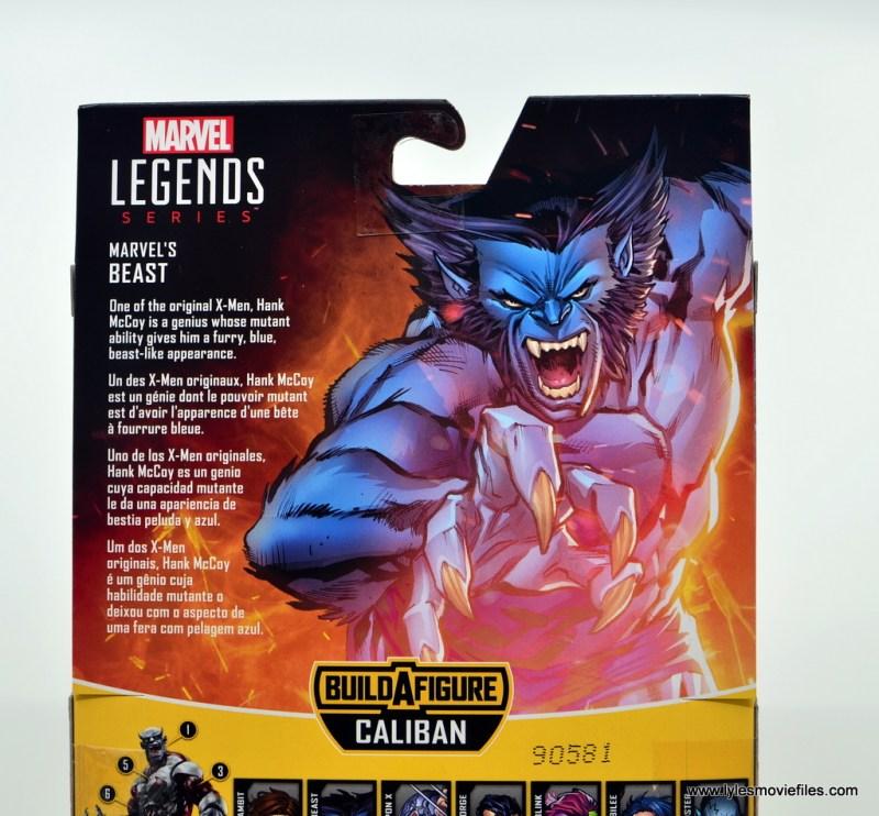marvel legends beast figure review -package bio