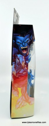marvel legends beast figure review -package side