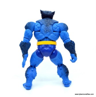 marvel legends beast figure review - rear