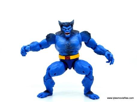 marvel legends beast figure review -squatting