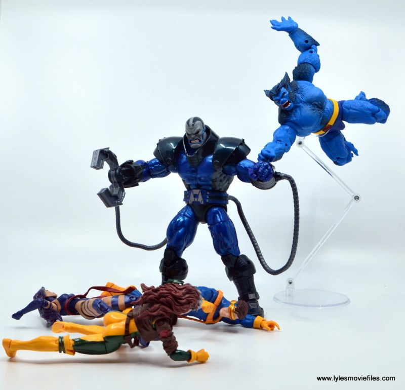 marvel legends beast figure review -stopping apocalypse