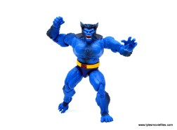 marvel legends beast figure review -walking forward