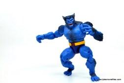marvel legends beast figure review -wide full shot