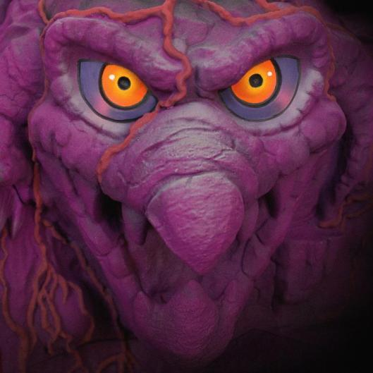 masters of the universe snake mountain playset -mountain close up