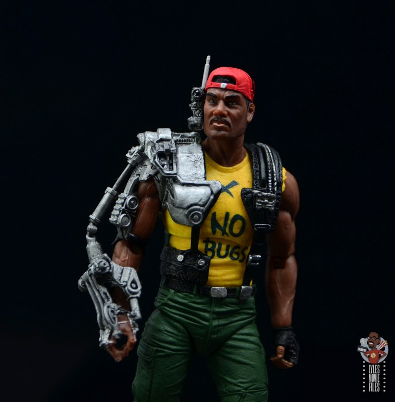 neca aliens sgt apone figure review - looking up