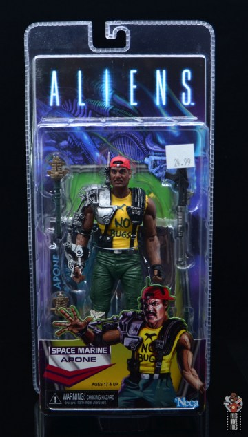 neca aliens sgt apone figure review - package front