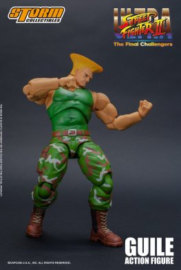 storm collectibles street fighter ii guile figure - fight start