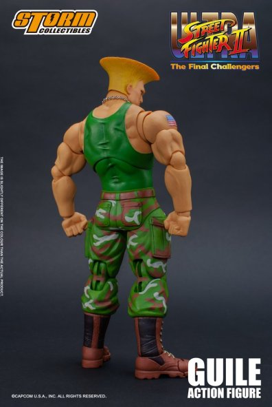 storm collectibles street fighter ii guile figure - rear