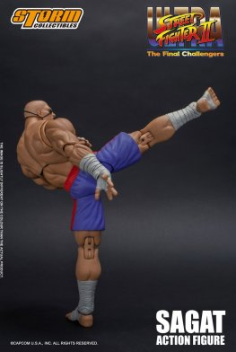 storm collectibles street fighter ii sagat figure - high kick