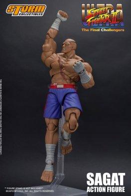 storm collectibles street fighter ii sagat figure - tiger uppercut