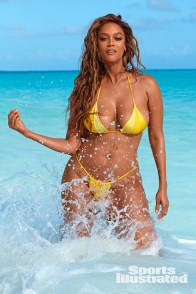 tyra banks sports illustrated 2019 pictorial - yellow bikini