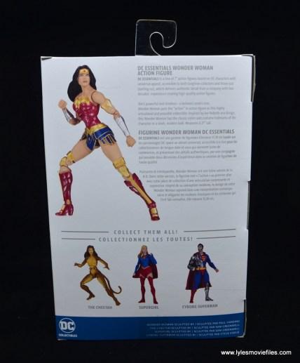 DC Essentials Wonder Woman figure review - package rear