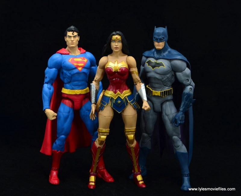 DC Essentials Wonder Woman figure review -superman, wonder woman and batman
