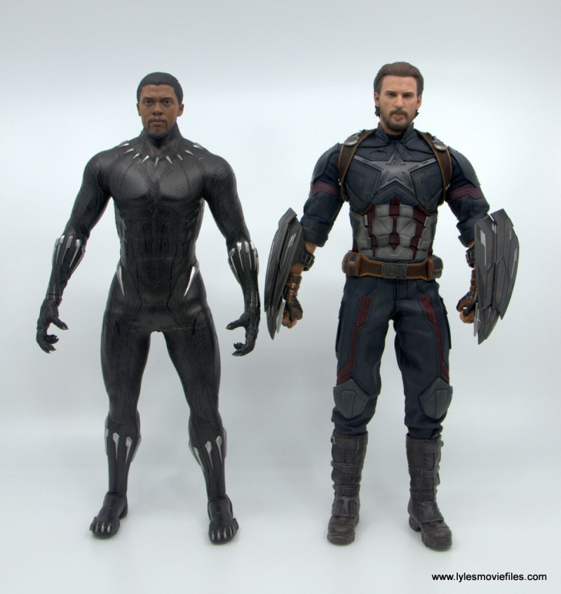 Hot Toys Black Panther figure review - scale with infinity war captain america