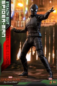 Hot Toys Spider-Man Stealth Suit Figure -aiming
