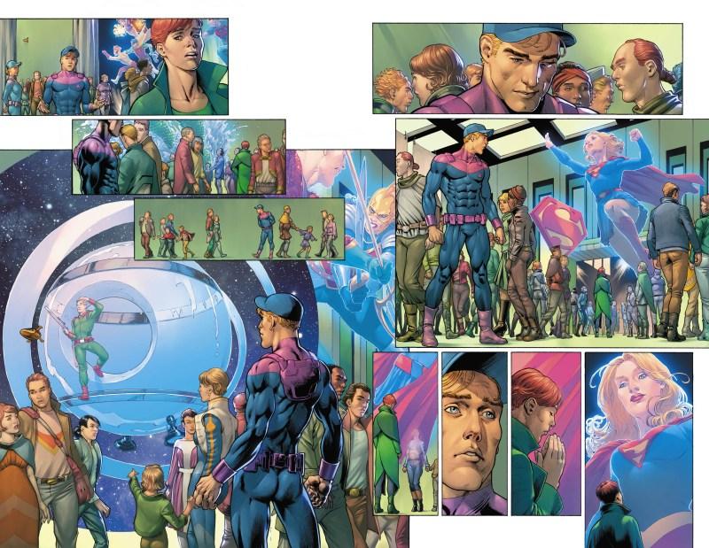 legion of superheroes interior art