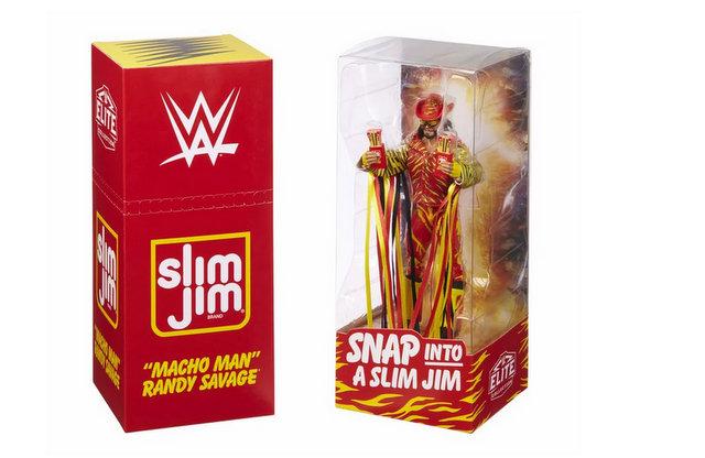Macho Man Randy Savage Slim Jim figure packaging