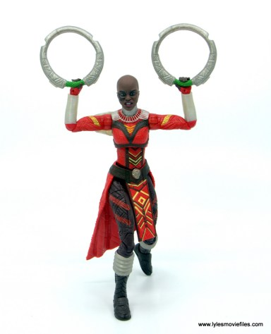 Marvel Legends Dora Milaje figure review - holding discs