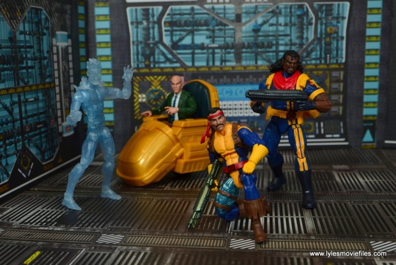 Marvel Legends Forge figure review - battle ready with iceman, professor x and bishop