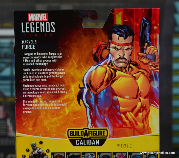 Marvel Legends Forge figure review - package bio