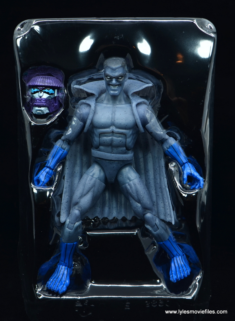 Marvel Legends Grey Gargoyle figure review - accessories in tray