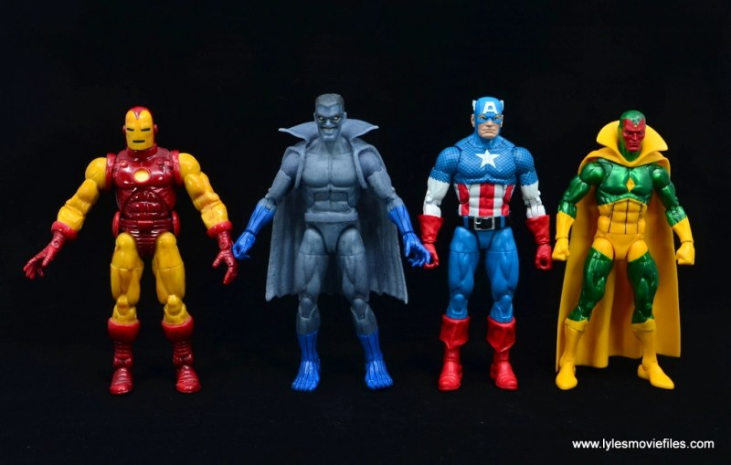 Marvel Legends Grey Gargoyle figure review - with iron man, captain america and vision