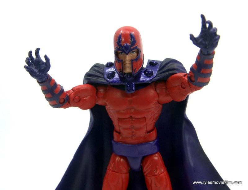 Marvel Legends Magneto, Quicksilver and Scarlet Witch figure review - calm head close up