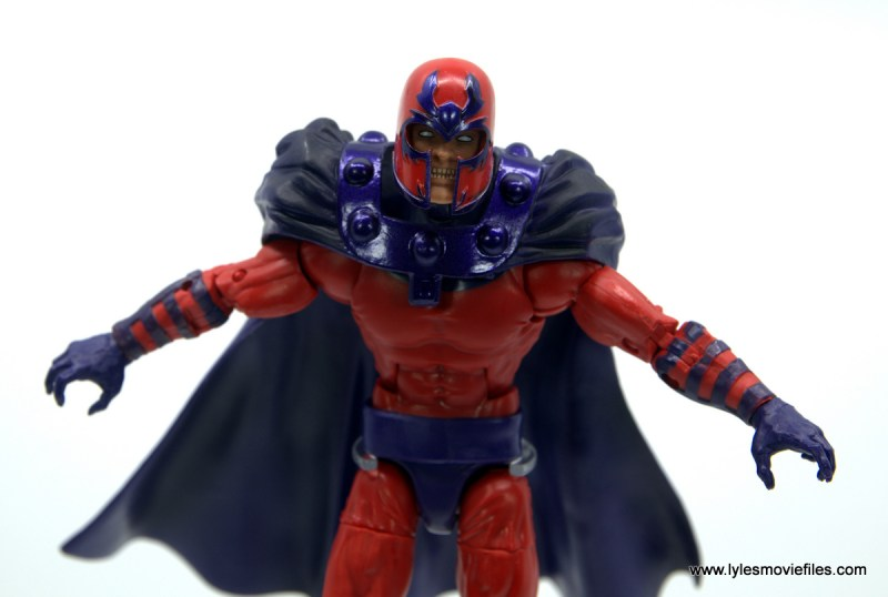Marvel Legends Magneto, Quicksilver and Scarlet Witch figure review - magneto angry head close up