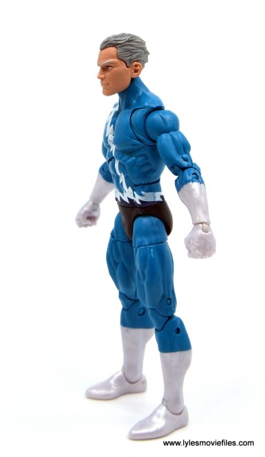 Marvel Legends Magneto, Quicksilver and Scarlet Witch figure review - quicksilver left side