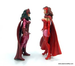 Marvel Legends Magneto, Quicksilver and Scarlet Witch figure review - scarlet witch facing odinfather scarlet witch